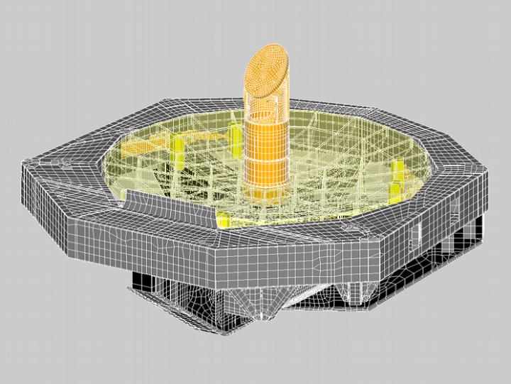 Finite-Elemente-Modell der SOFIA Primärspiegelzelle (c) Benjamin Greiner