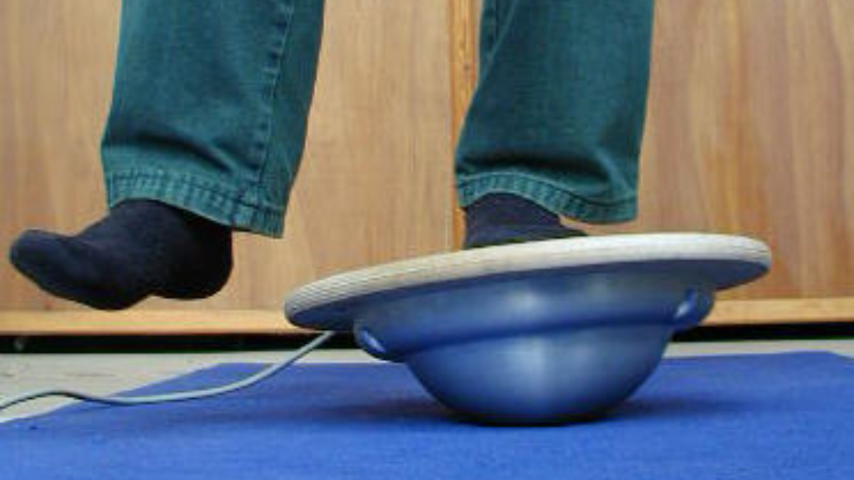 Motion measurement of an ankle exercise board